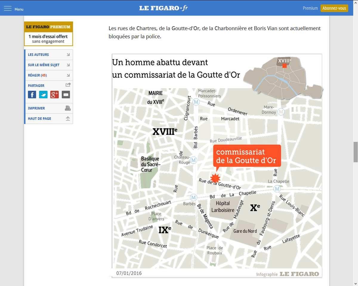 Attaque à la Goutte d'Or (Paris) : l'assaillant abattu portait une ceinture d'explosifs factice