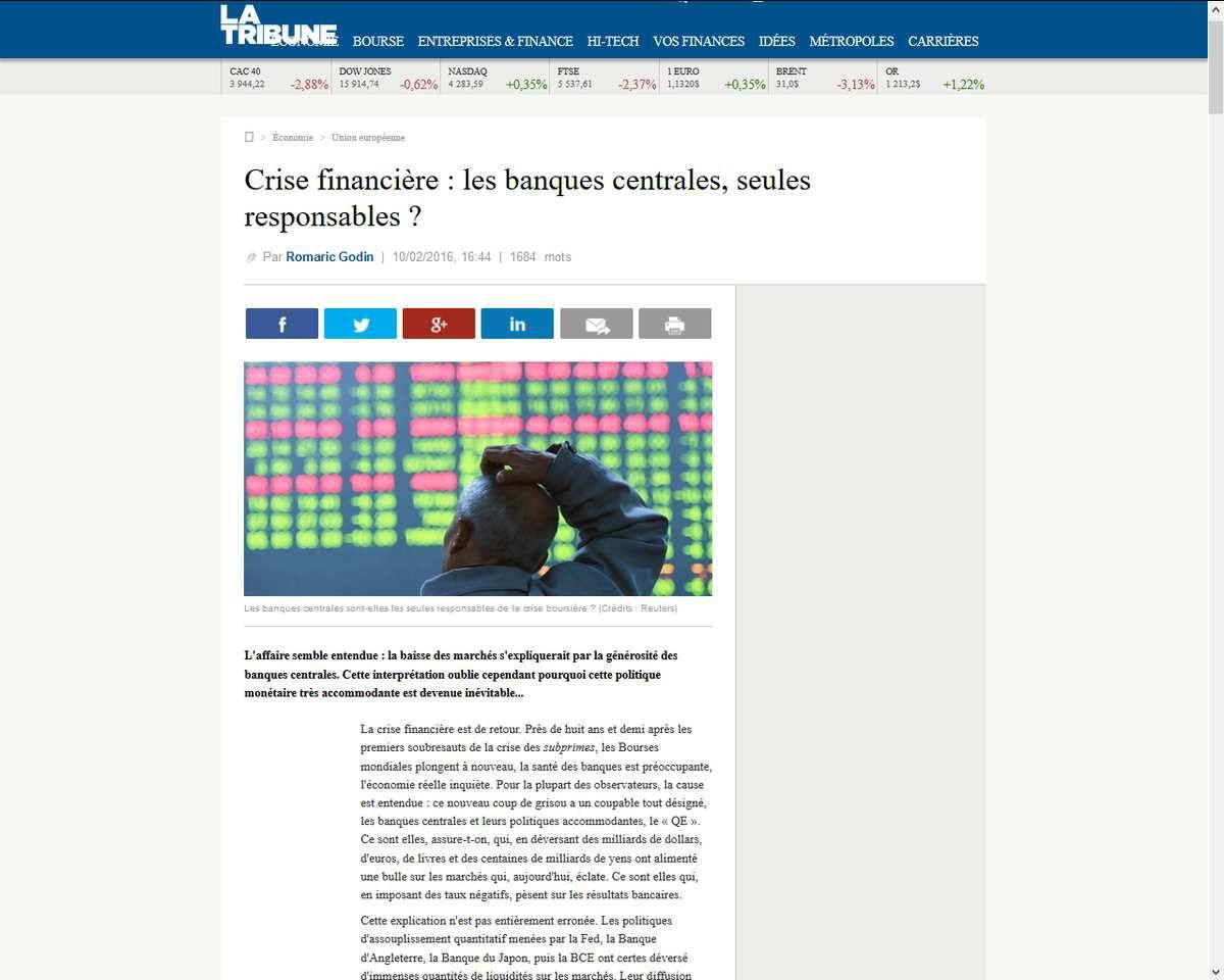 """Le """"retour"""" de la """"crise financière"""" : Banques, Etats et autorités européennes, vrais responsables"""