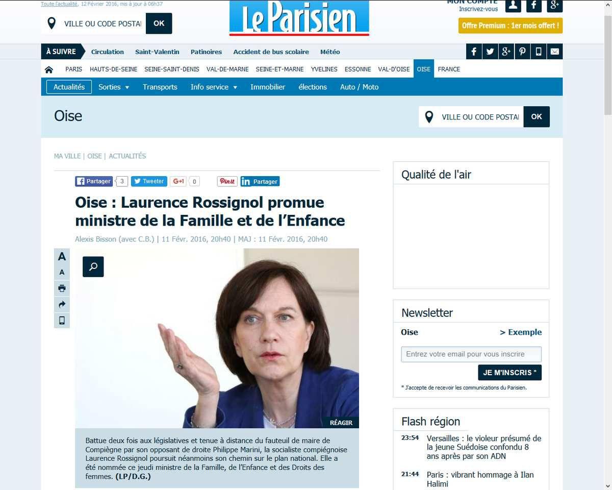 """""""Les enfants n'appartiennent pas à leurs parents"""" : Laurence Rossignol promue ministre de la famille"""