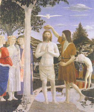 Le Baptême du Christ par St Jean Baptiste