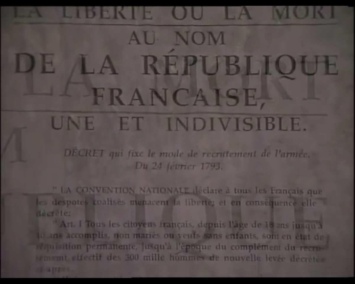 Décret de conscription générale du 24 fevrier 1793, invention de la guerre moderne de nations à nations