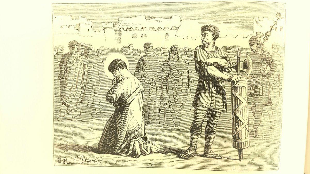 Saint Jacques le Majeur, fêté le 25 juillet, est le premier apôtre martyr, décapité sur l'ordre d'Hérode Agrippa vers 41 (Ac. 12, 1-2) lors des premières grandes persécutions contre les communautés chrétiennes à Jérusalem