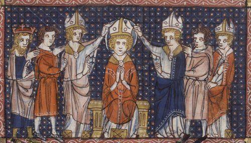Ordination de saint Hilaire, XIVe siècle