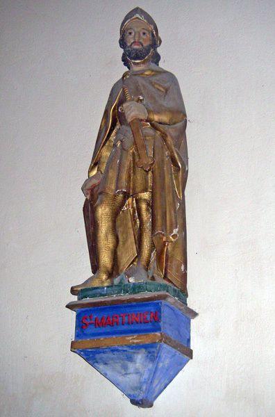 Saint Martinien, statue Eglise du Pays d'Huriel (Auvergne)