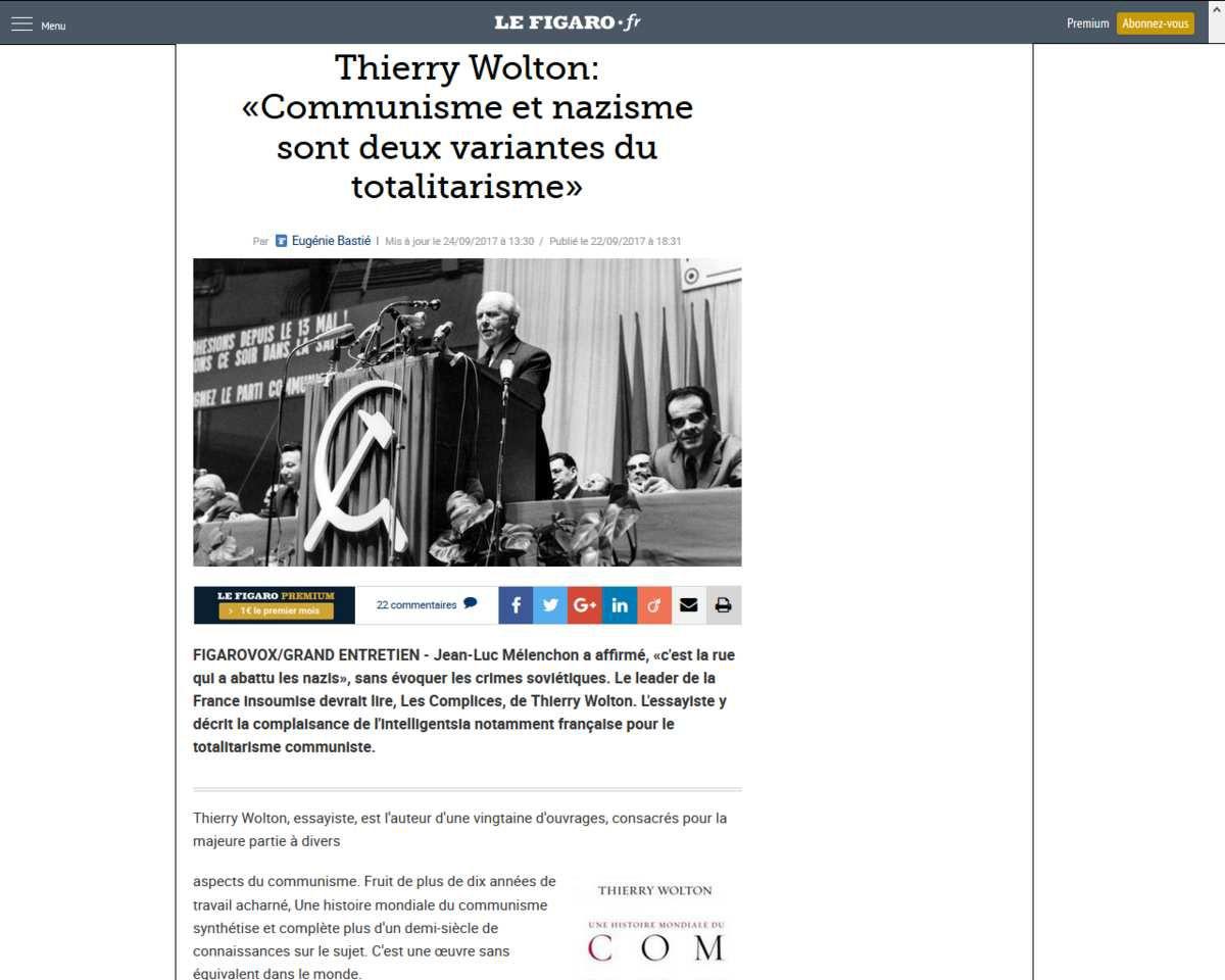 """Thierry Wolton : """"Être anti communiste reste péjoratif, quand cela devrait être une évidence"""""""