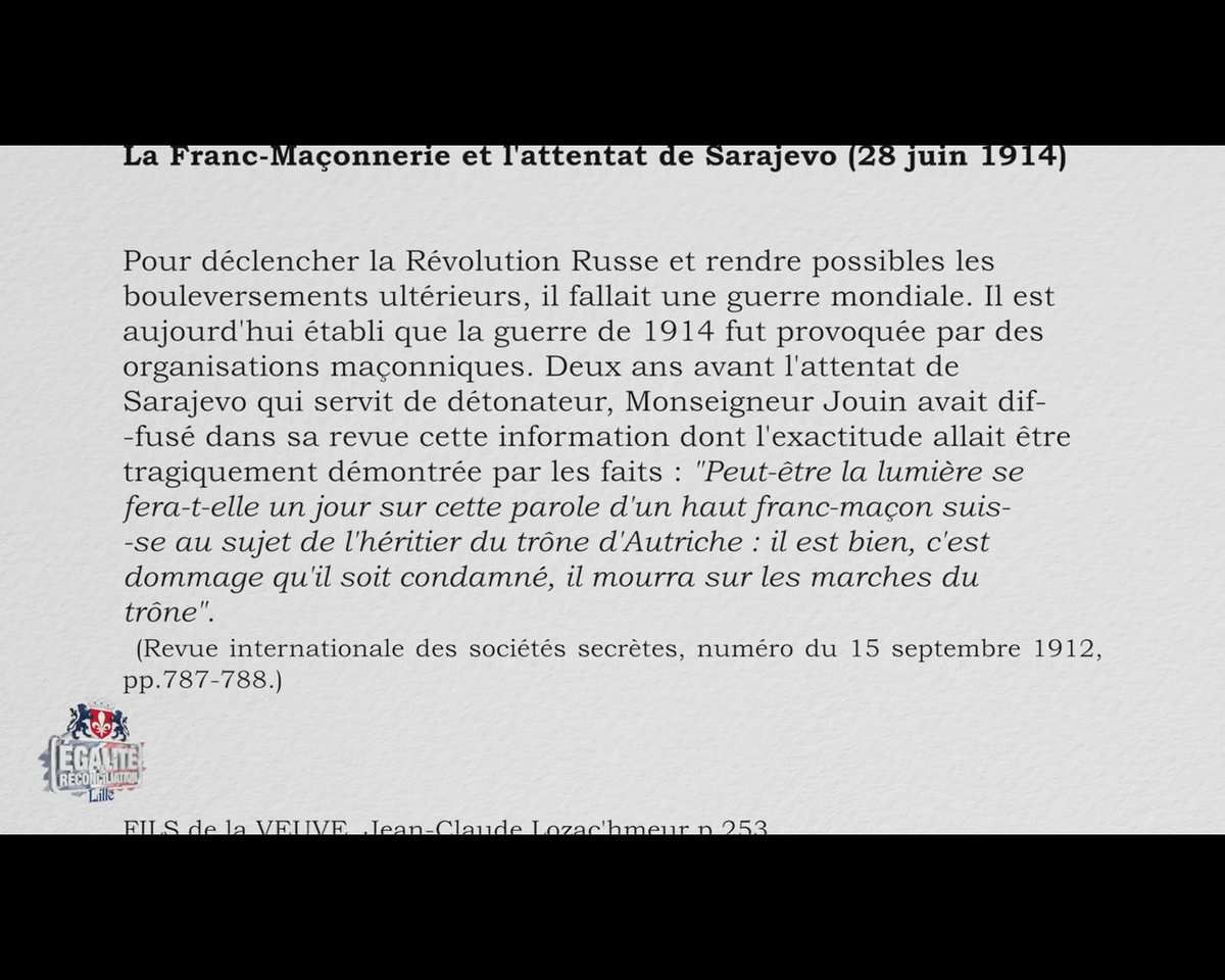 Les origines occultistes de la franc-maçonnerie - Pr Lozac'hmeur