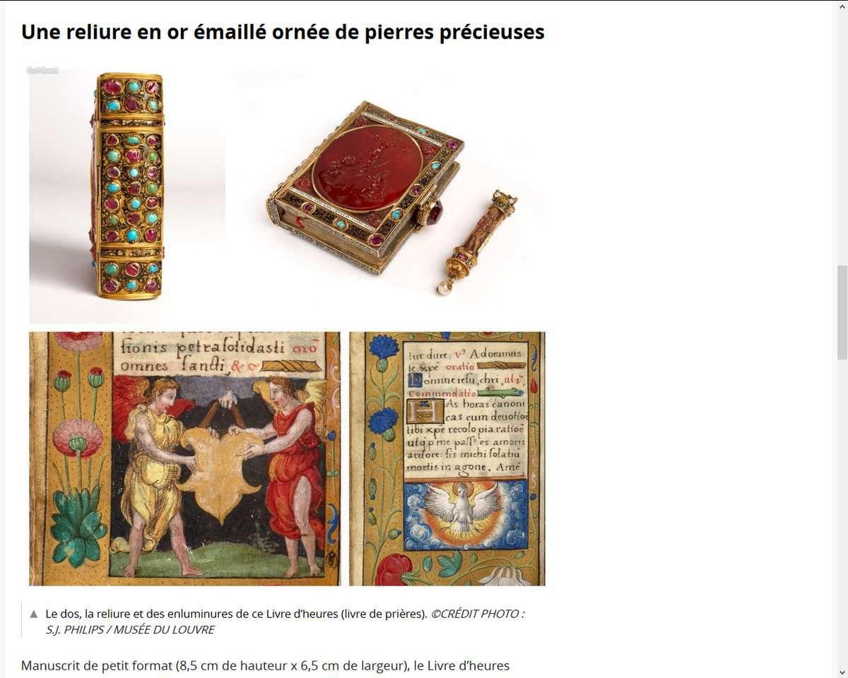 """""""Livre d'heures de François Ier"""" : Le Louvre fait appel aux dons pour acquérir un trésor de François Ier"""