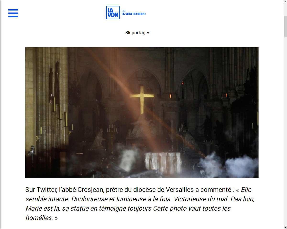 Source: http://lavdn.lavoixdunord.fr/569096/article/2019-04-16/au-milieu-des-ruines-le-miracle-de-l-autel-et-la-croix-intactes