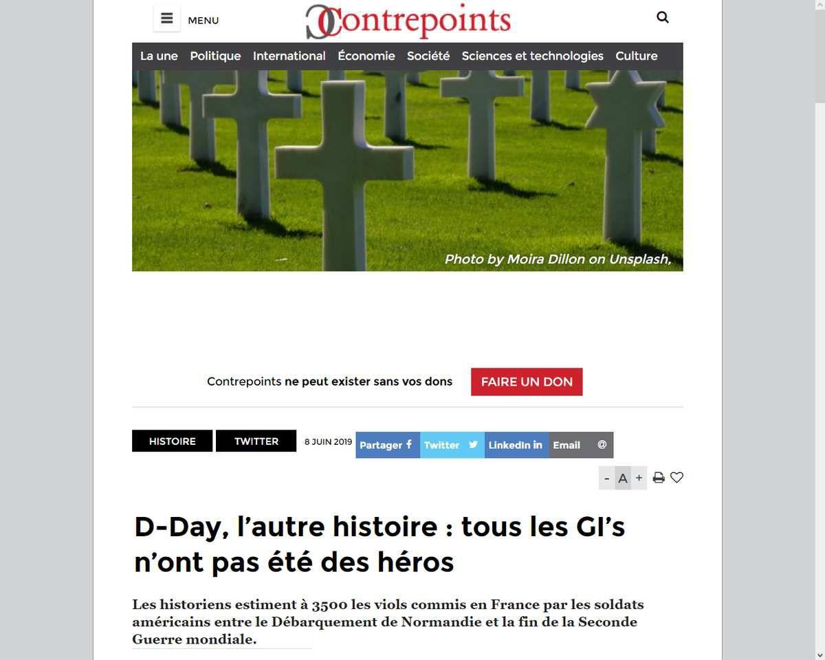 Libération - 6 juin 1944 - D-Day : les GI's violeurs
