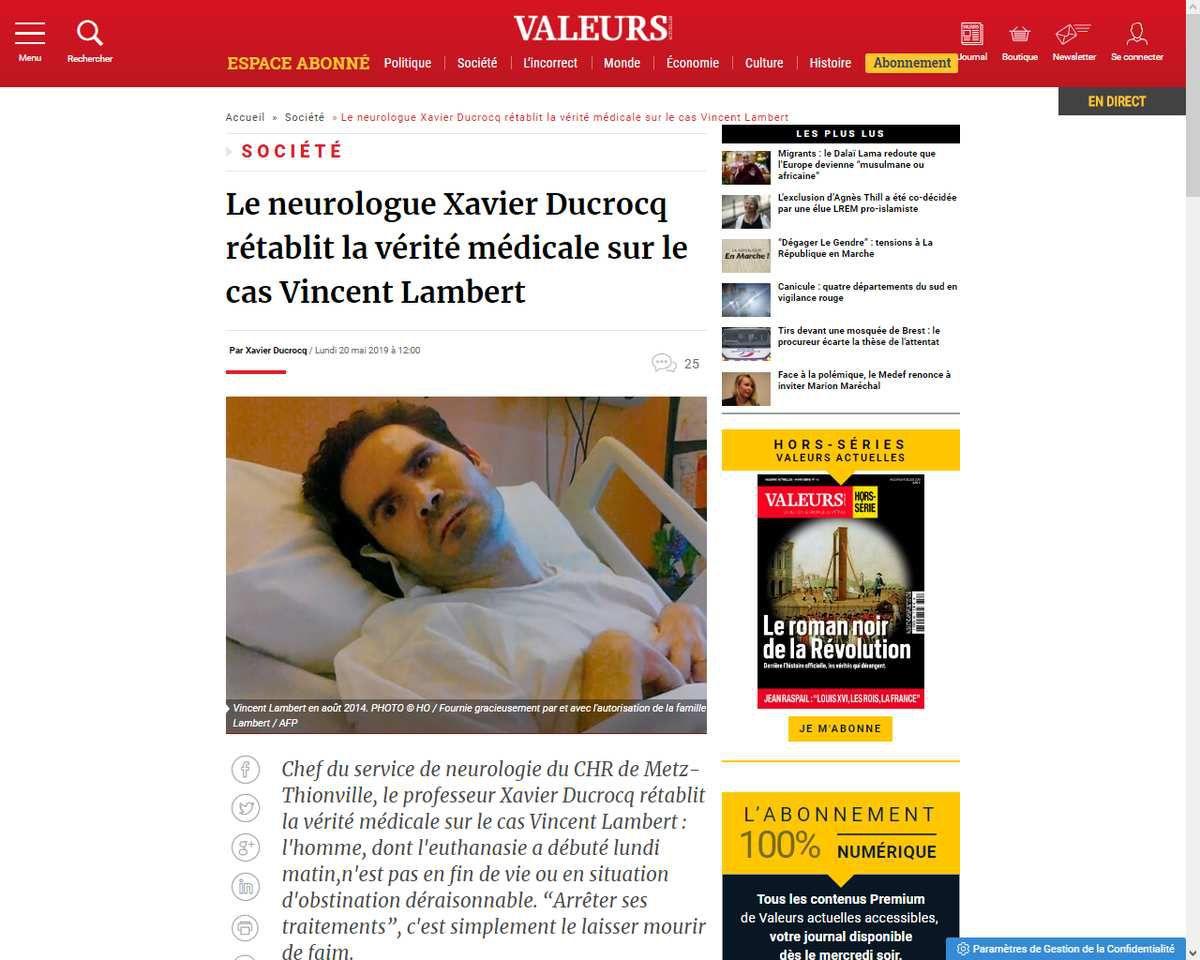 Inquiétudes après la mise à mort de Vincent Lambert