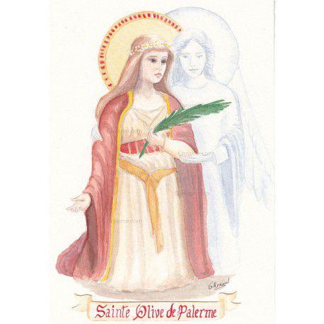 Sainte Olive (Olivia), martyre (9ème s.)