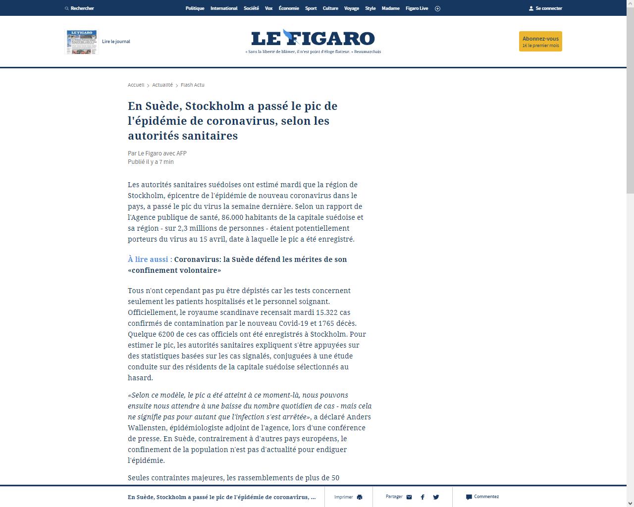 https://www.lefigaro.fr/flash-actu/en-suede-stockholm-a-passe-le-pic-de-l-epidemie-de-coronavirus-selon-les-autorites-sanitaires-20200421