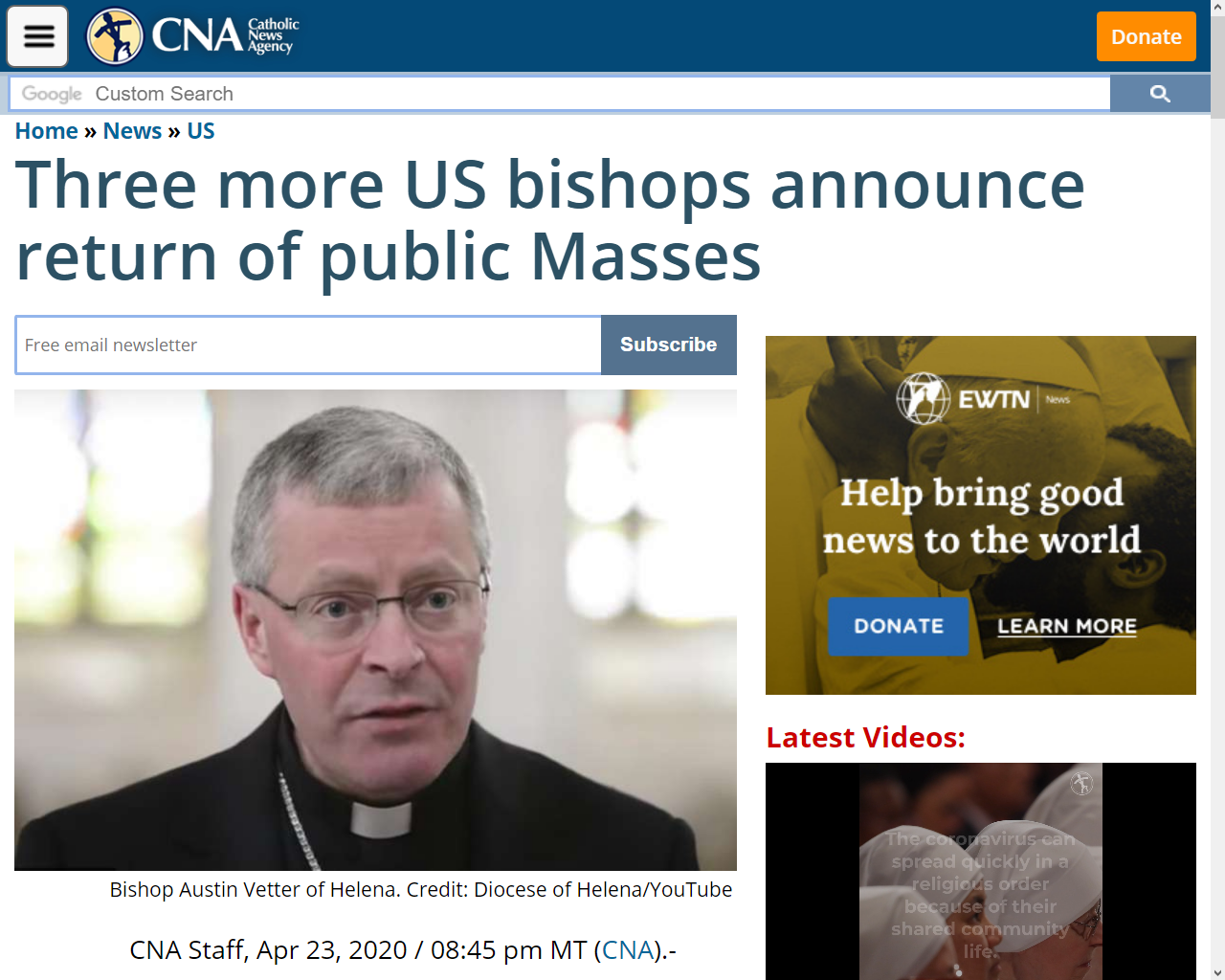 https://www.catholicnewsagency.com/news/three-more-us-bishops-announce-return-of-public-masses-46313
