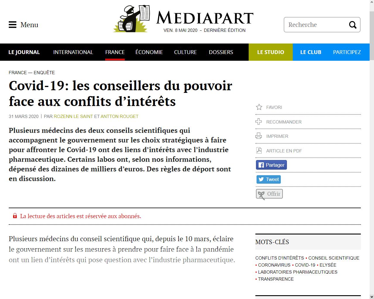 https://www.mediapart.fr/journal/france/310320/covid-19-les-conseillers-du-pouvoir-face-aux-conflits-d-interets?onglet=full