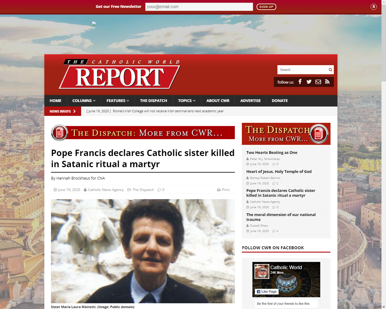 https://www.catholicworldreport.com/2020/06/19/pope-francis-declares-catholic-sister-killed-in-satanic-ritual-a-martyr/