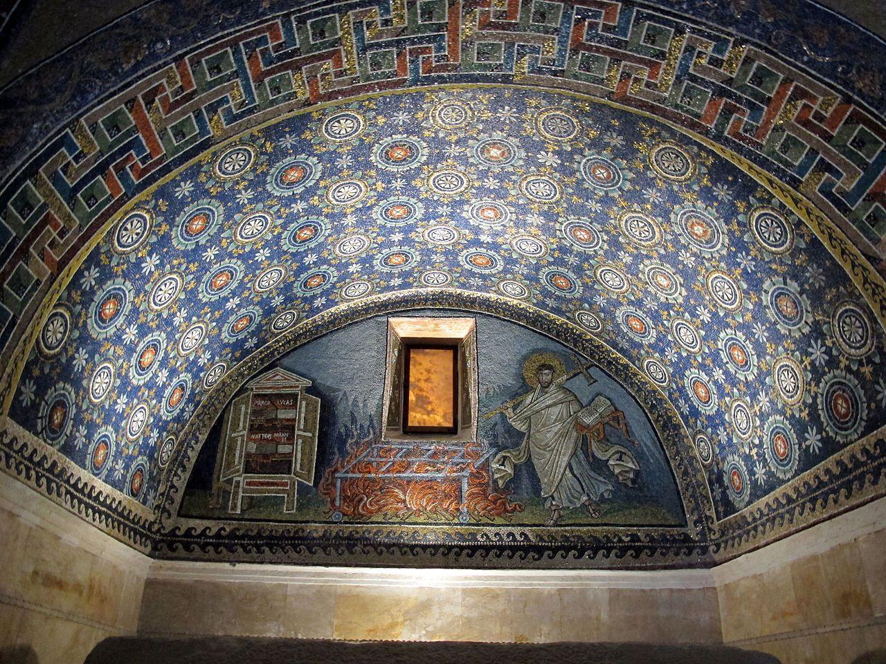 Le Martyre de Saint-Laurent, Mausolée de Galla Placidia, Ravenne, Italie