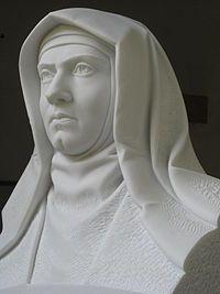 Buste de Sainte Thérèse Bénédicte de la Croix, par Johann Brunner (2009).
