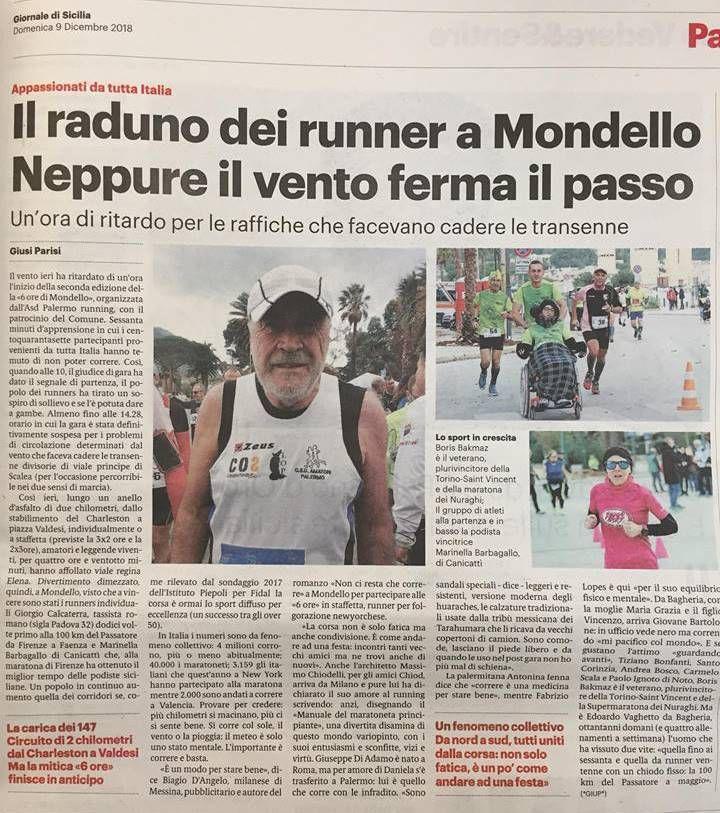 """L'articolo di Giusi Parisi, comparso nelle pagine de """"Il Giornale di Sicilia"""" del 9 dicembre 2018"""