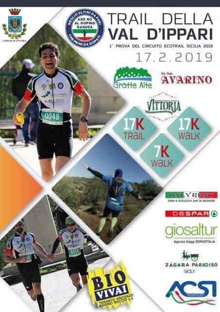 Locandina del Trail della Val d'Ippari (edizione del 2019)