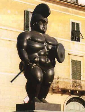 Stua di Botero sa Pietrasanta (Versilia, Toscana)