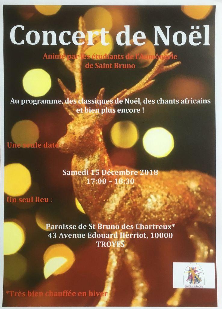 l'affiche du concert des étudiants - imprimez et communiquez...!