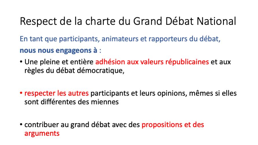 Participation au Grand Débat National le 22 février 2019 sur Annecy