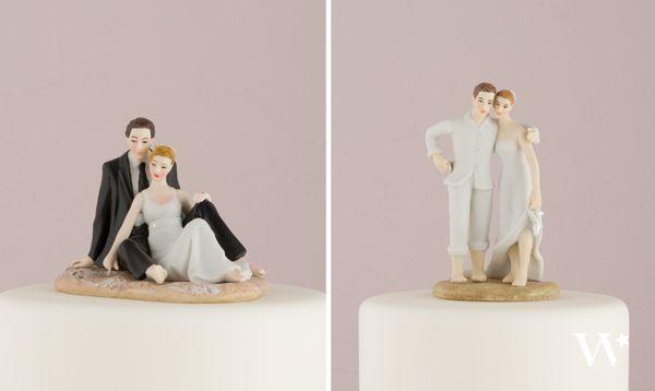 figurine de gateau de mariage theme mer, ideee de deco de mariage marin