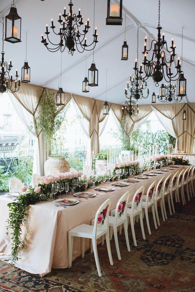 Une décoration de mariage romantique à New York