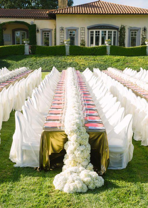 Idées originales de décoration de mariage avec des arches florales