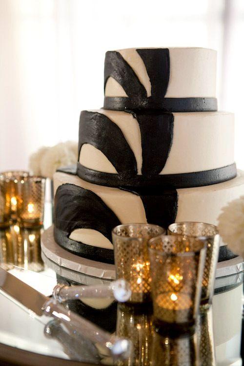 Mariage somptueux noir blanc et doré