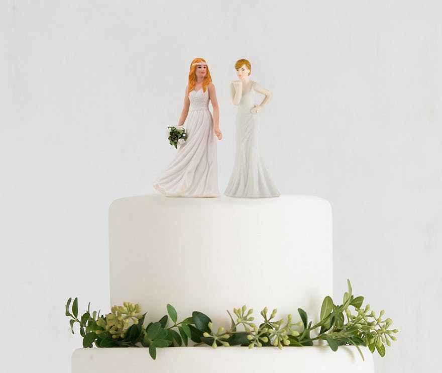 Figurines Maries Deco Gateau Wedding Cake Topper Peint Main