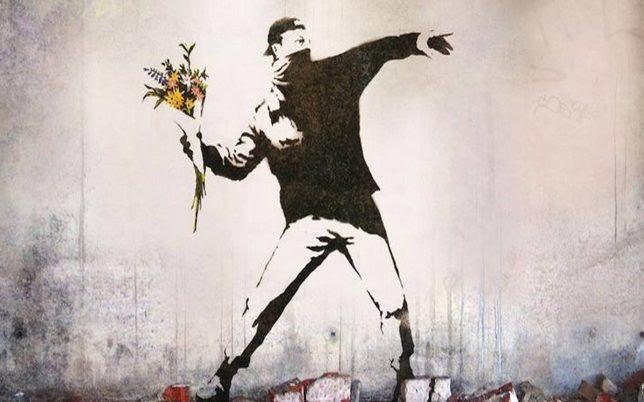 Rage, The Flower Thrower de Banksy