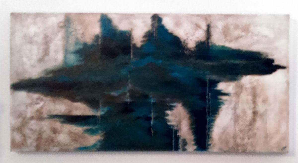 Acrylique sur toile - Au couteau et pinceau - Taille : 90 X 100 cm - en 3D