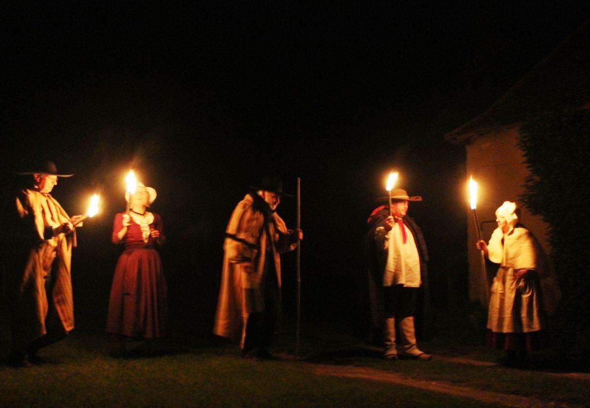 Le château du Plaix à la lumière des bougies