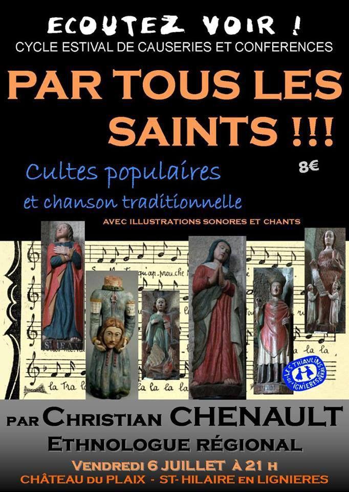 Par tous les saints ! Cultes populaires et chansons traditionnelles.