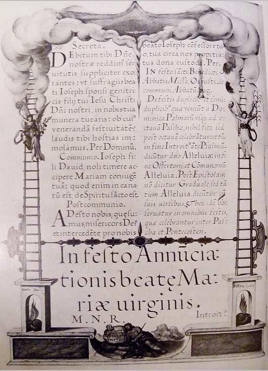Missale Romanum folio 440v, image copiée de T. Vignau-Willberg, Die emblematische Werke 1969.