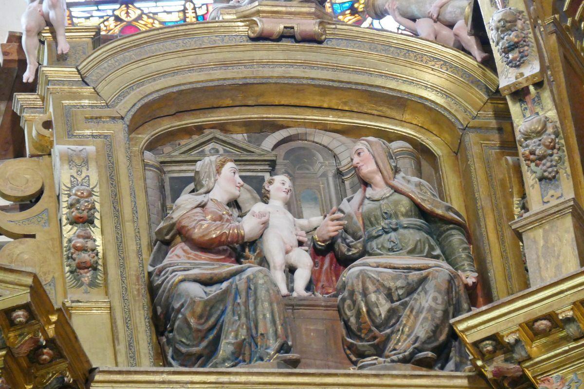 Anne trinitaire, Retable de l'autel principal, cathédrale de Burgos, photo lavieb-aile.