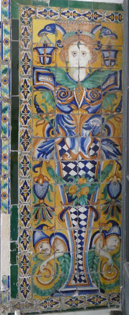 Azulejos par Hernando de Valladares,XVIIe siècle, Hall d'entrée, Musée des Beaux-Arts de Séville, photo lavieb-aile.