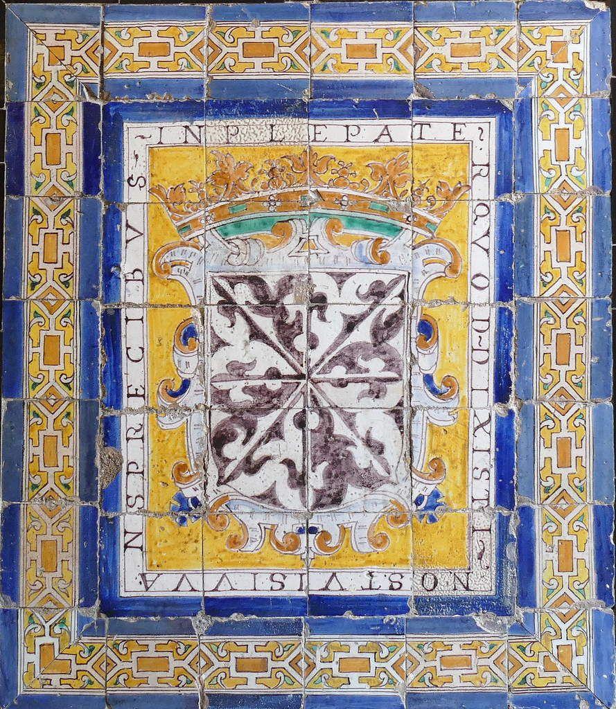 O Spem miram, Azulejos, provenant d'un couvent dominicain. Musée des Beaux-Arts, Séville. Photo lavieb-aile.