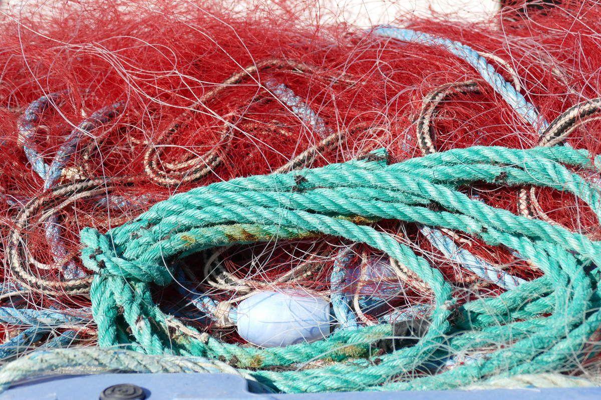 Filets de pêche, port St-Gildas, île de Houat, photo lavieb-aile.