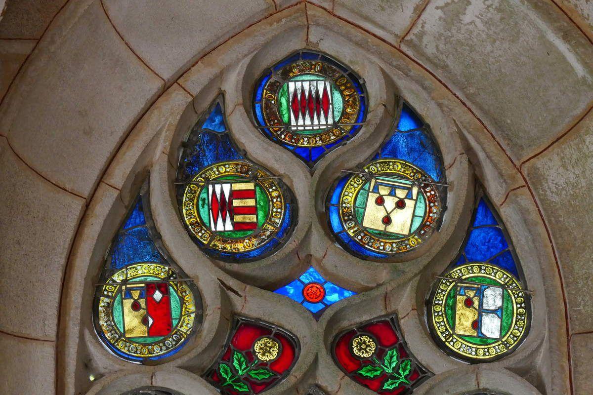Tympan, verrière de sainte Barbe, Chapelle Sainte-Barbe, Le Faouët, photographie lavieb-aile.