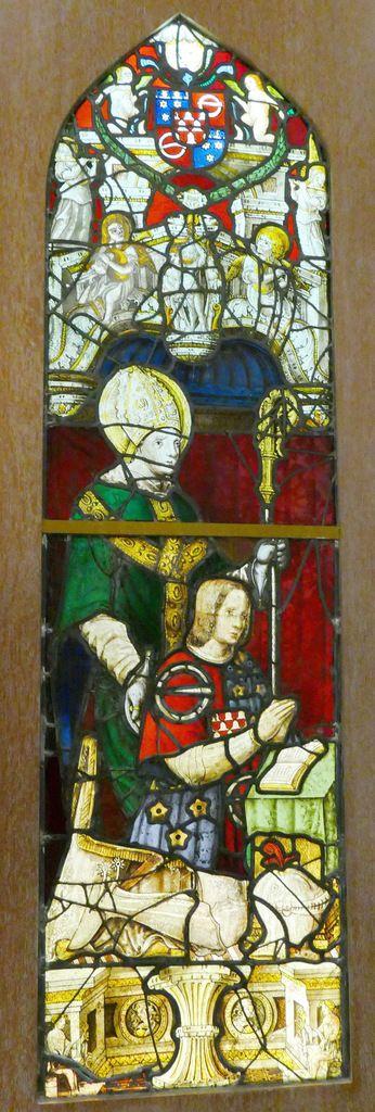 Lancette A, Verrière de la chapelle Saint-Exupère de Dinéault. Musée Départemental Breton. Photographie lavieb-aile.
