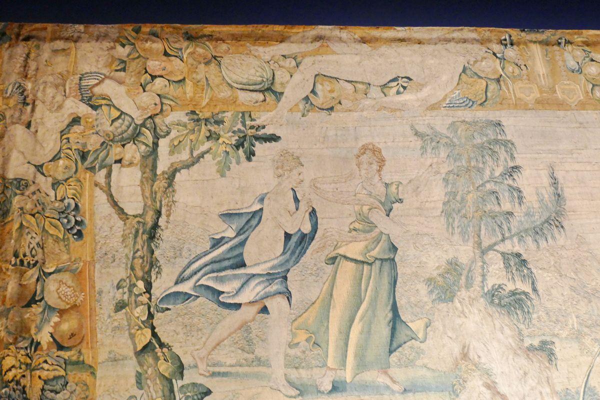 Tenture de Psyché,  Psyché cherchant la laine d'or, Musée de Sully-sur-Loire, photographie lavieb-aile.