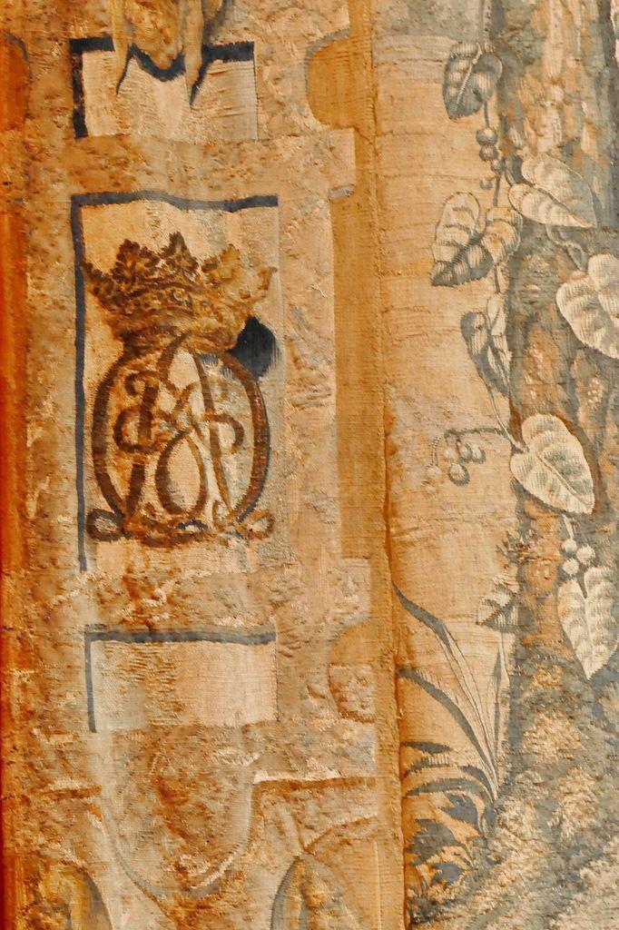 Monogramme, Tenture de Psyché,  Psyché cherchant la laine d'or, Musée de Sully-sur-Loire, photographie lavieb-aile.