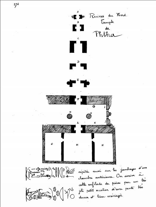 CHAMPOLLION, 1844, Notices descriptives..., Paris II p. 273 & 274.