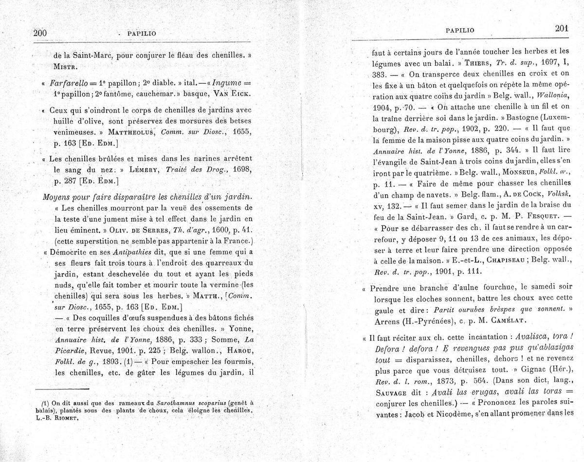 Eugène Rolland, Les insectes : noms vulgaires, dictons, proverbes, légendes, contes et superstitions - Paris : Editions G.-P. Maisonneuve et Larose, 1967 , page 200-201.