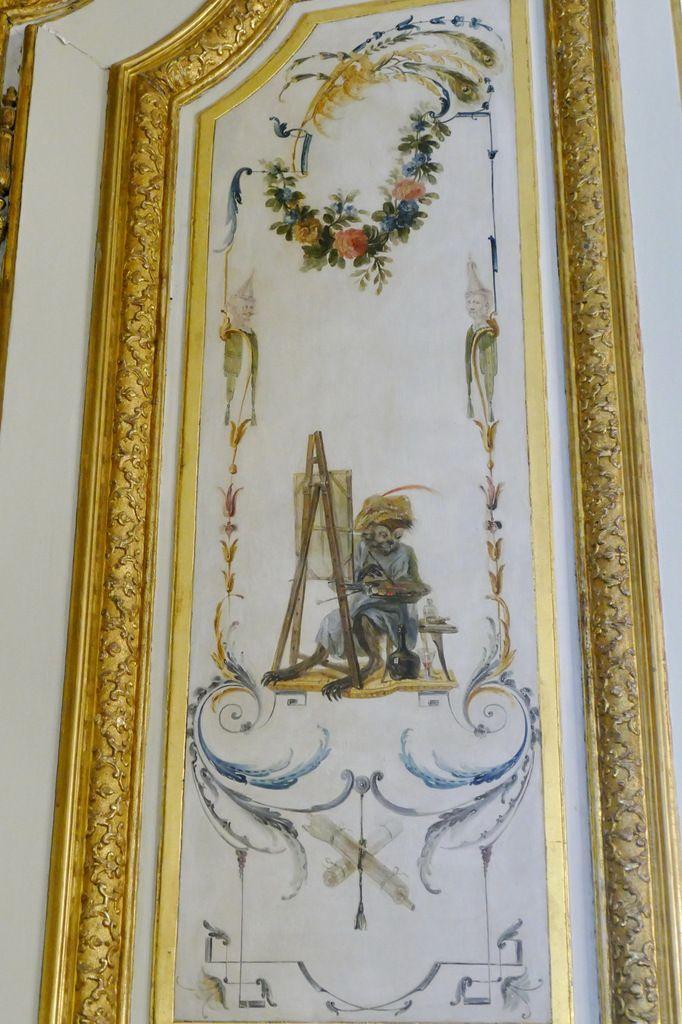 Vantail gauche de l'une des portes de la Grande Singerie, Château de Chantilly, photographie lavieb-aile.