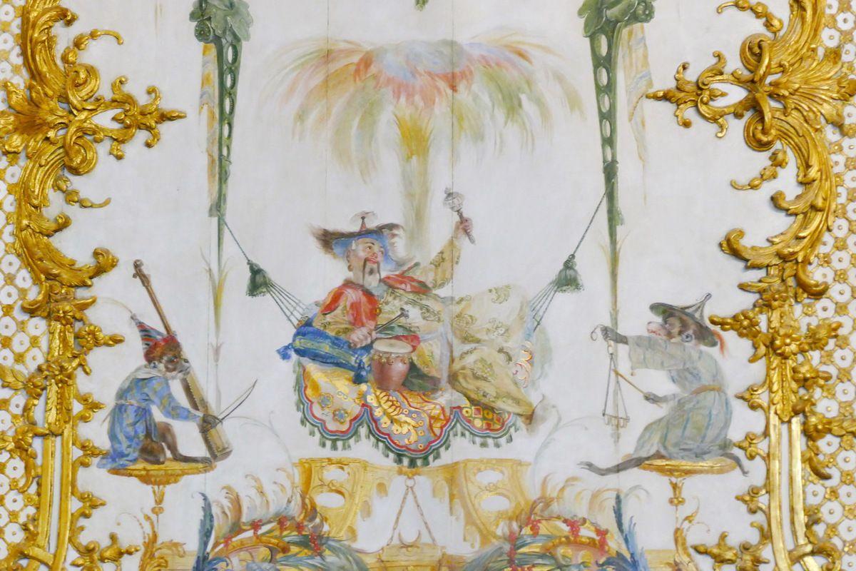 Panneau chinois, Grande Singerie, Château de Chantilly, photographie lavieb-aile.