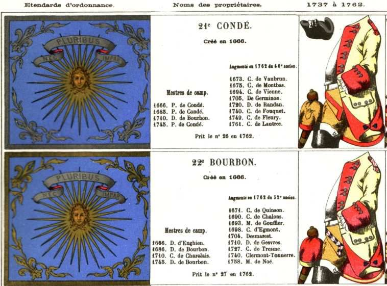 Cavalerie dite légère, française et étrangère (Mouillard - Les régiments sous Louis XV) http://pfef.free.fr/Anc_Reg/Unif_Org/Mouillard/Planches/03_05.htm