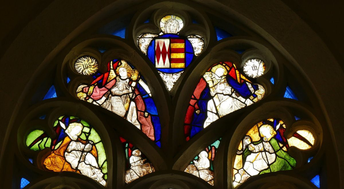 Tympan, Baie 4, chapelle Saint-Fiacre, Le Faouët, photographie lavieb-aile.
